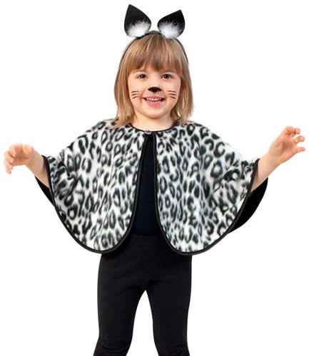 cape katze leopard leo tiger kinder karneval fasching kost m 98 116. Black Bedroom Furniture Sets. Home Design Ideas