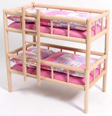 chic 2000 bayer holz puppen etagenbett vario puppenbett div farben ebay. Black Bedroom Furniture Sets. Home Design Ideas