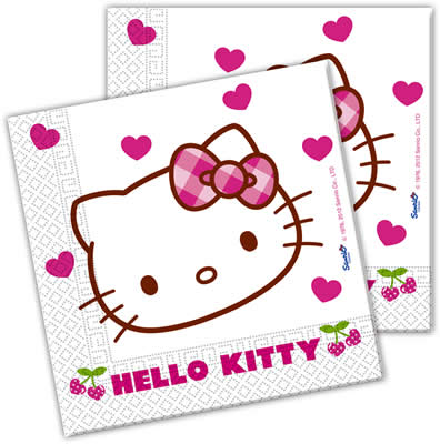 kindergeburtstag geburtstag party motto hello kitty hearts ebay. Black Bedroom Furniture Sets. Home Design Ideas