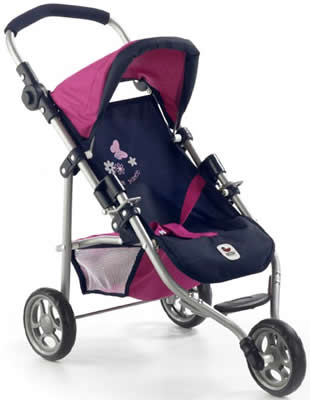 Chic-2000-Bayer-Jogging-Buggy-Puppenwagen-Puppenbuggy-Lola-div-Farben