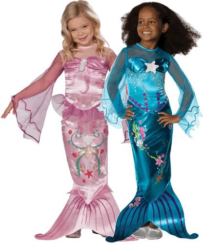 meerjungfrau blau pink kinder karneval fasching kost m 104 128. Black Bedroom Furniture Sets. Home Design Ideas