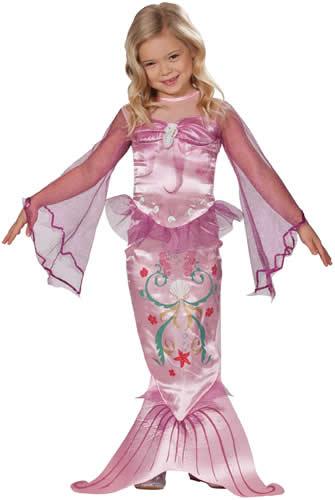 Meerjungfrau-blau-pink-Kinder-Karneval-Fasching-Kostuem-104-128