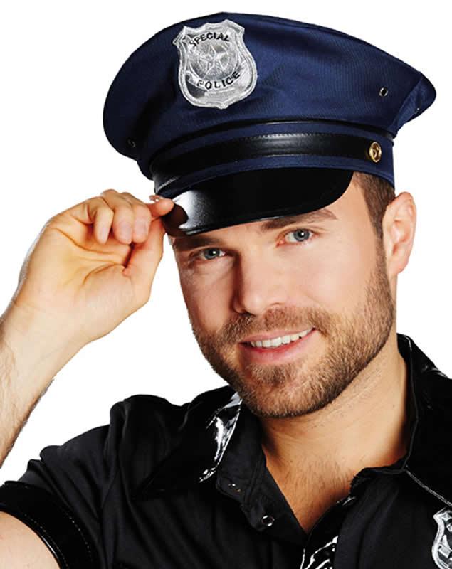 Police Cap Polizeimütze Polizei-Kappe Hut Mütze Karneval 3 Farben