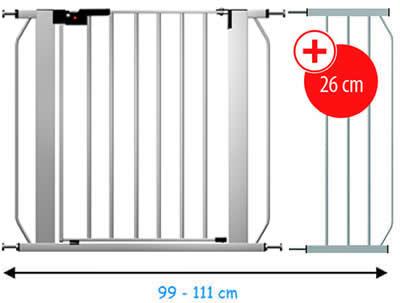 reer treppengitter treppenschutzgitter 73 111 lisa set ebay. Black Bedroom Furniture Sets. Home Design Ideas