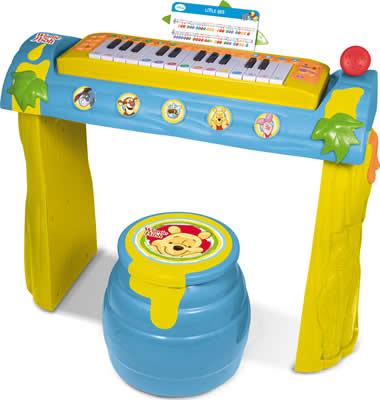 Winnie Pooh Keyboard mit Gestell + Hocker Tigger & Pooh +3J