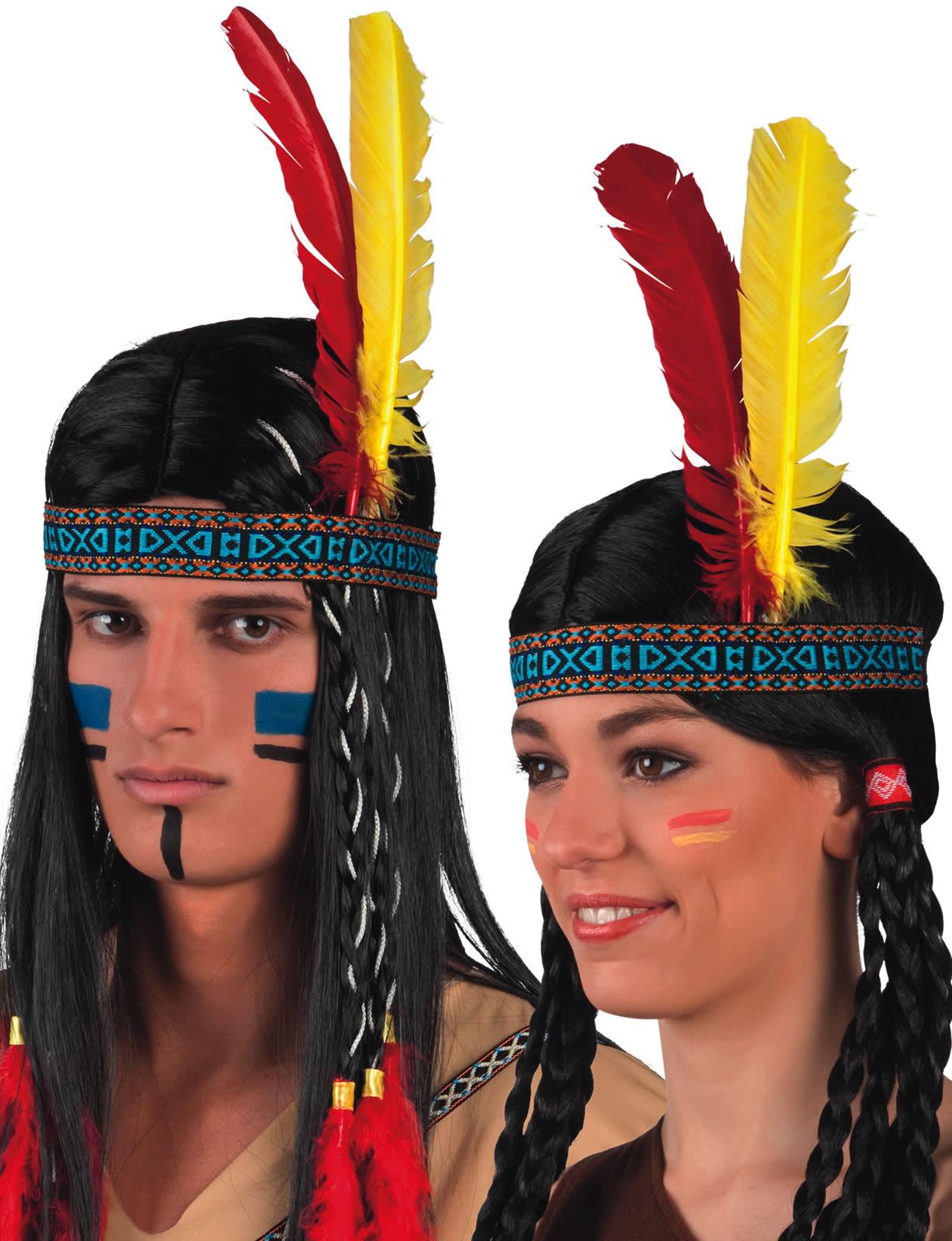 stirnband indianerin indianer mit federn karneval fasching. Black Bedroom Furniture Sets. Home Design Ideas