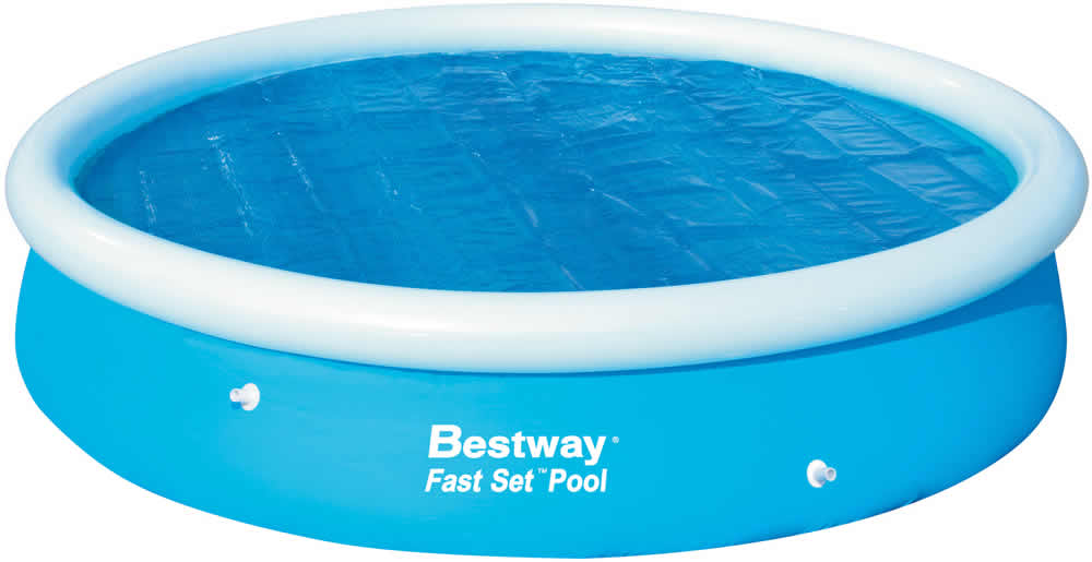 bestway abdeckplane poolabdeckung solar abdeckplane f r fast set pool ebay. Black Bedroom Furniture Sets. Home Design Ideas