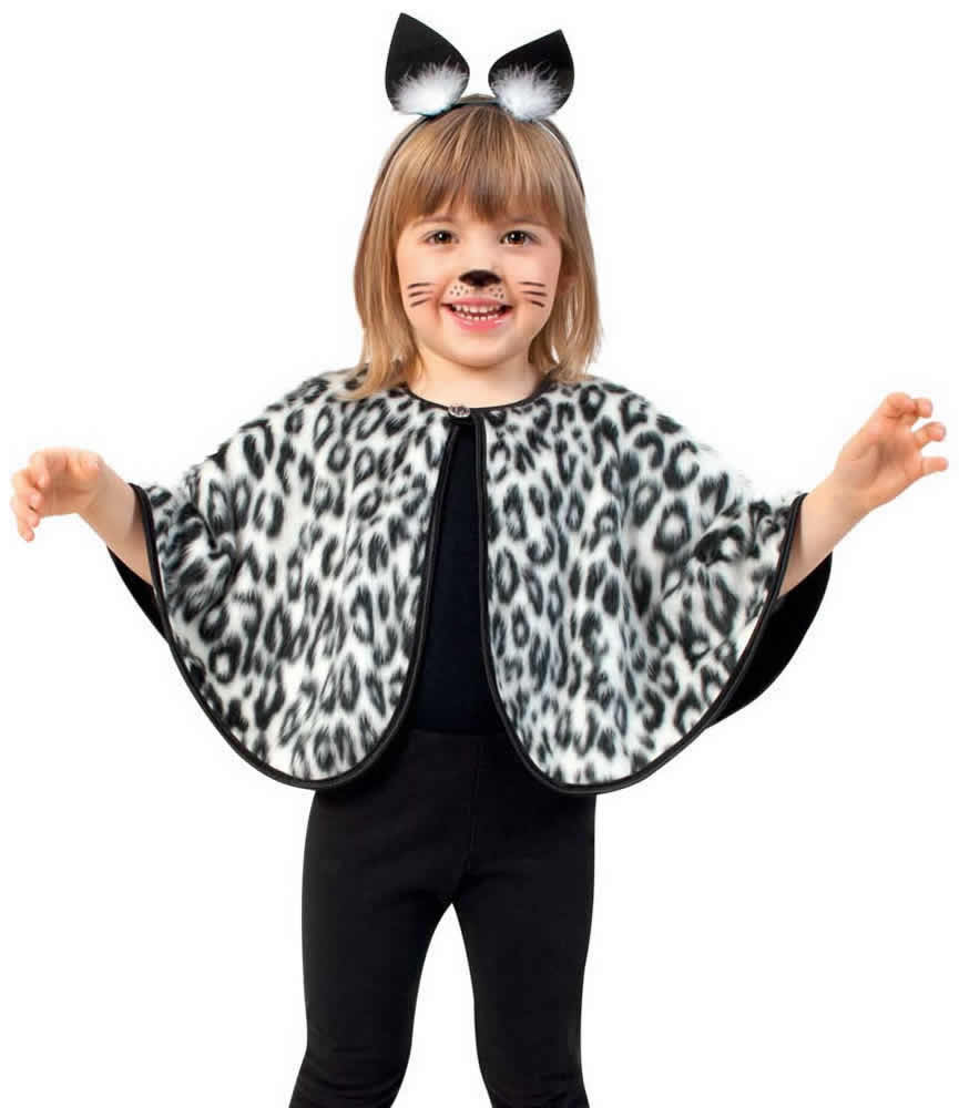 cape katze leopard leo tiger kinder karneval fasching kost m 98 116 ebay. Black Bedroom Furniture Sets. Home Design Ideas