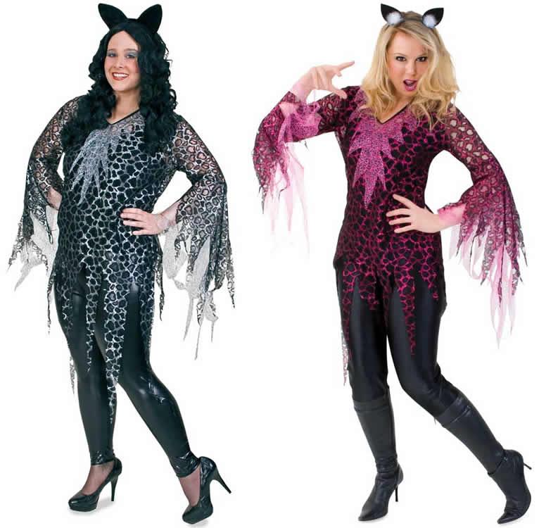 pink cat silver leo katze leopard karneval fasching kost m. Black Bedroom Furniture Sets. Home Design Ideas