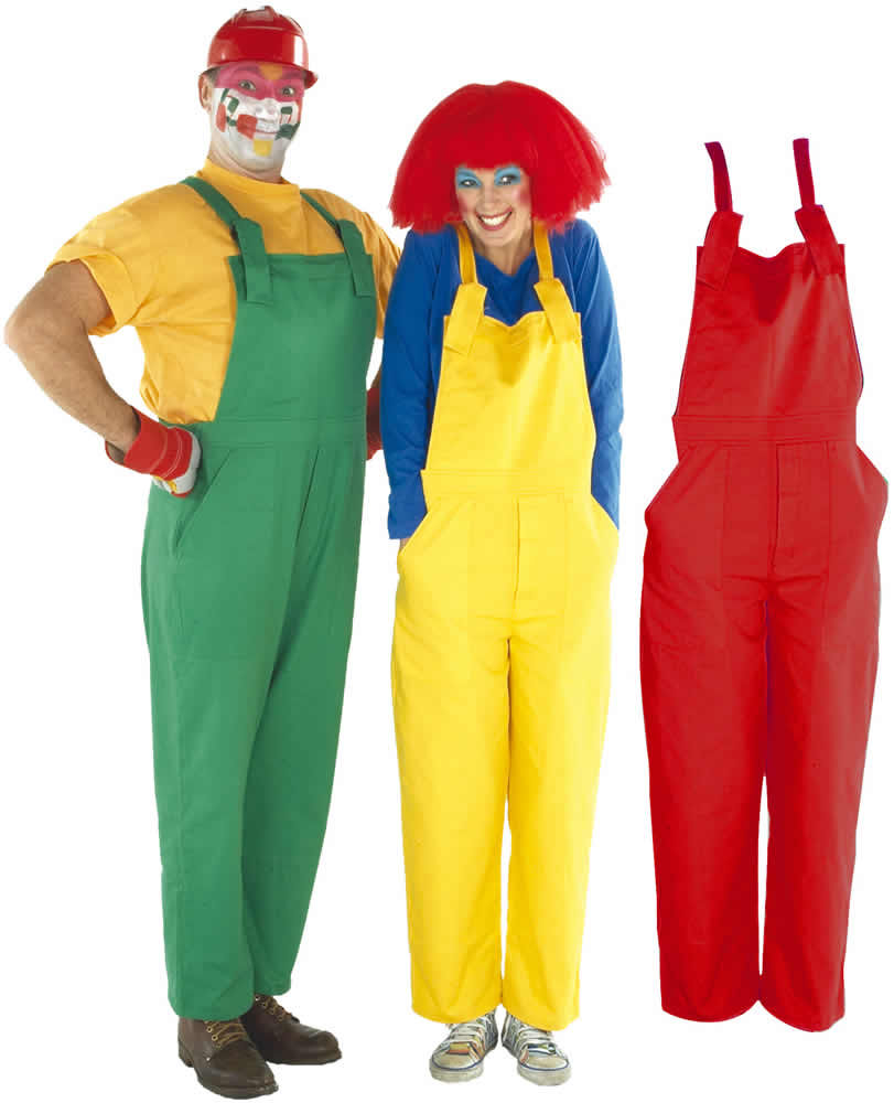 arbeitshose latzhose hose clown karneval fasching kost m s m l xl ebay. Black Bedroom Furniture Sets. Home Design Ideas