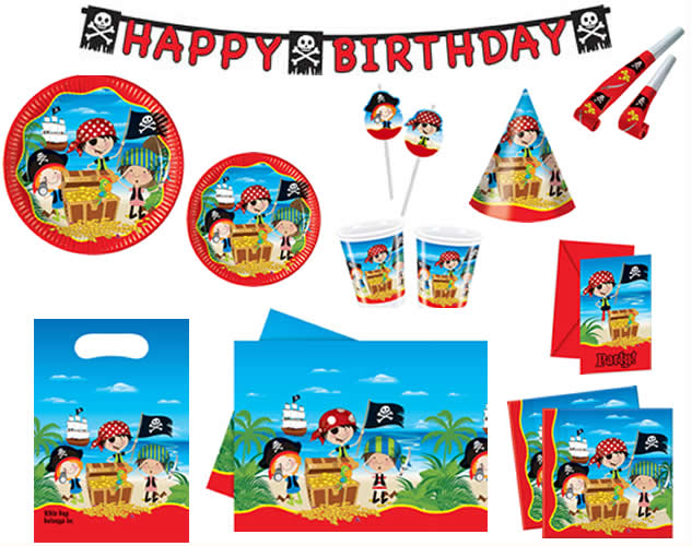 kindergeburtstag geburtstag party motto little pirates kleine piraten ebay. Black Bedroom Furniture Sets. Home Design Ideas