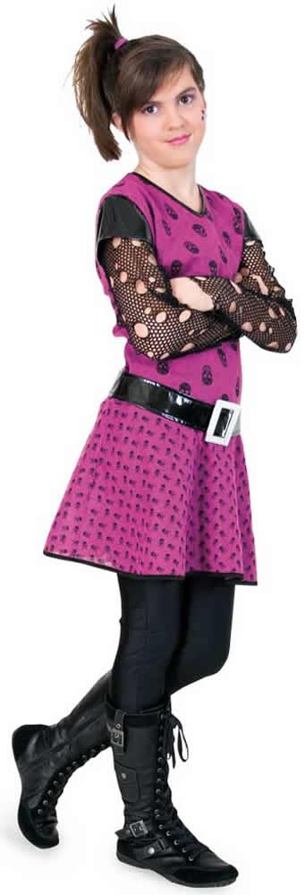 punkie girl punker kinder karneval fasching kost m 140 164 ebay. Black Bedroom Furniture Sets. Home Design Ideas