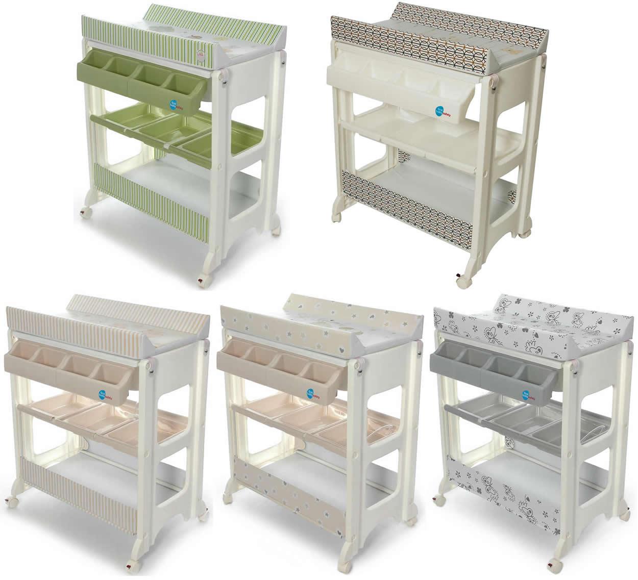 bade wickel kombination wickeltisch babywanne fahrbar ebay. Black Bedroom Furniture Sets. Home Design Ideas