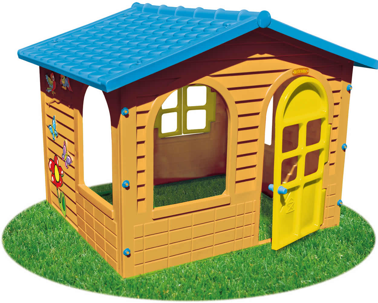 mochtoys spielhaus kinderspielhaus gartenhaus kunststoff 12m ebay. Black Bedroom Furniture Sets. Home Design Ideas
