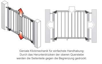 reer treppengitter klemmen o schrauben 74 126 cm finn ebay. Black Bedroom Furniture Sets. Home Design Ideas