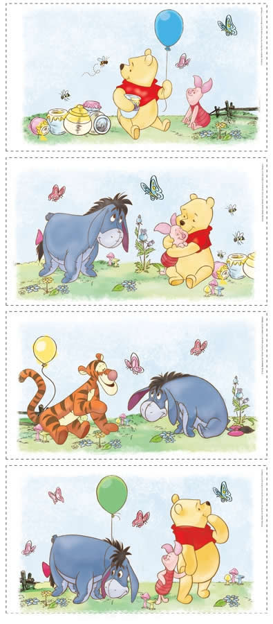 roommates wandbilder bilder wandsticker winnie pooh. Black Bedroom Furniture Sets. Home Design Ideas