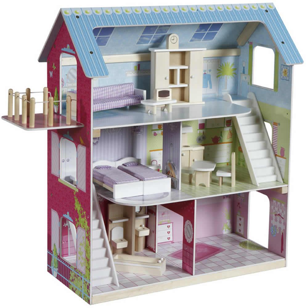 Grosses Puppenhaus Aus Holz Von Eichhorn ~ Puppenhaus Holz Ebay images