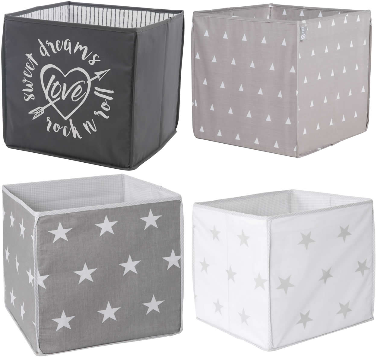 roba aufbewahrungsbox box faltbox spielzeugkiste kiste little stars ebay. Black Bedroom Furniture Sets. Home Design Ideas