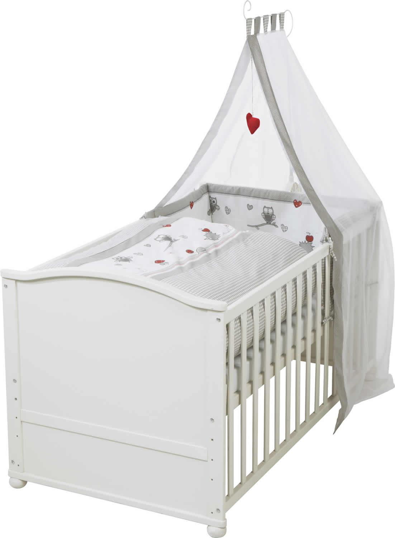 roba komplettbettset kinderbett babybett juniorbett adam und eule 70x140 cm ebay. Black Bedroom Furniture Sets. Home Design Ideas