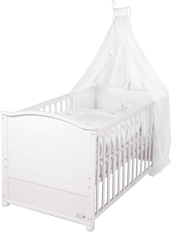 roba komplettbettset kinderbett babybett juniorbett fox und bunny 70x140 cm ebay. Black Bedroom Furniture Sets. Home Design Ideas
