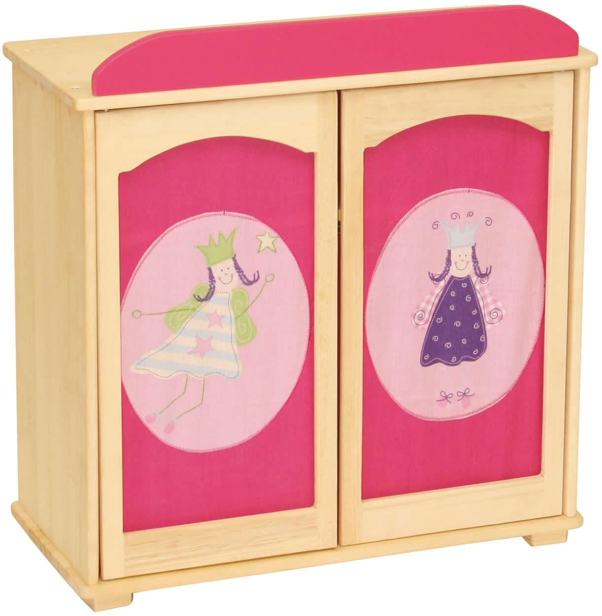roba puppenkleiderschrank happy fee kleiderschrank puppen schrank holz rfee ebay. Black Bedroom Furniture Sets. Home Design Ideas