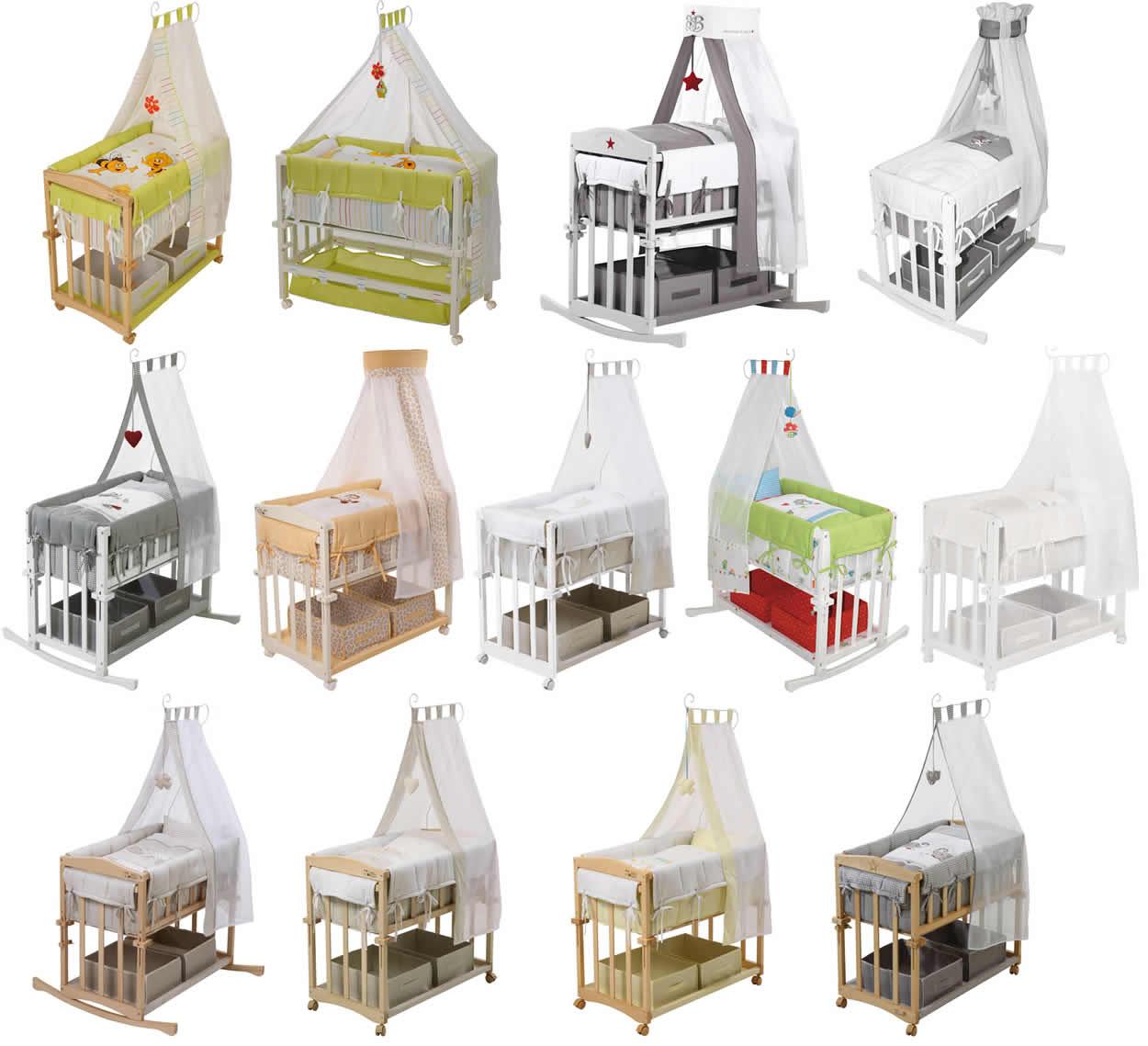 roba stubenbett 4in1 stubenwiege stubenwagen beistellbett. Black Bedroom Furniture Sets. Home Design Ideas