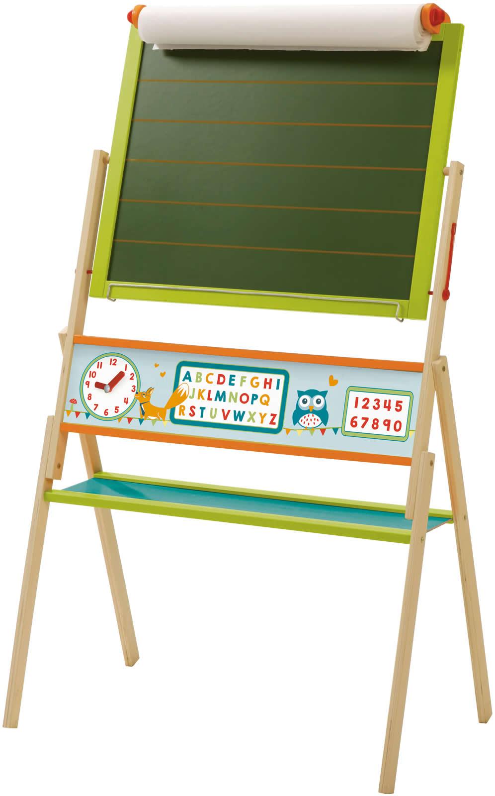roba kinder standtafel tafel kreidetafel liniert magnettafel magnetisch holz ebay. Black Bedroom Furniture Sets. Home Design Ideas