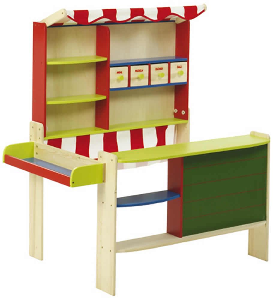 roba verkaufsstand kaufladen kaufmannsladen marktstand kiosk holz ebay. Black Bedroom Furniture Sets. Home Design Ideas