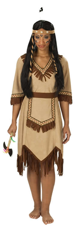 apachen indianerin indianer karneval fasching kost m 32 48. Black Bedroom Furniture Sets. Home Design Ideas