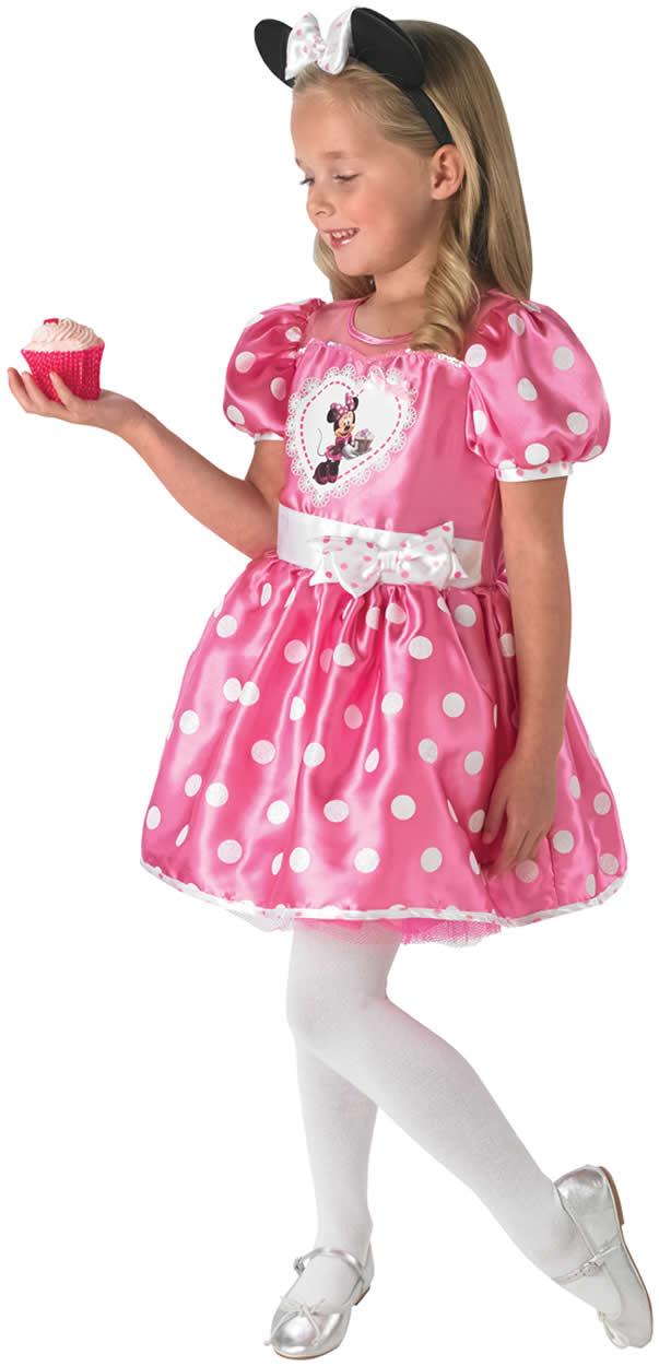 minnie mouse pink cupcake kinder karneval fasching kost m. Black Bedroom Furniture Sets. Home Design Ideas