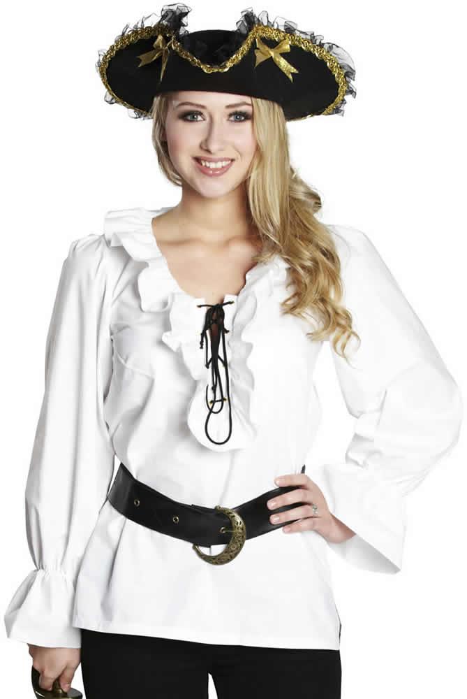 Piratenbluse-Piraten-Pirat-Bluse-Karneval-Fasching-Kostuem