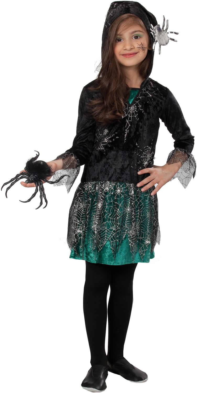 spinnenm dchen spinnen kinder halloween karneval kost m 104 140 ebay. Black Bedroom Furniture Sets. Home Design Ideas