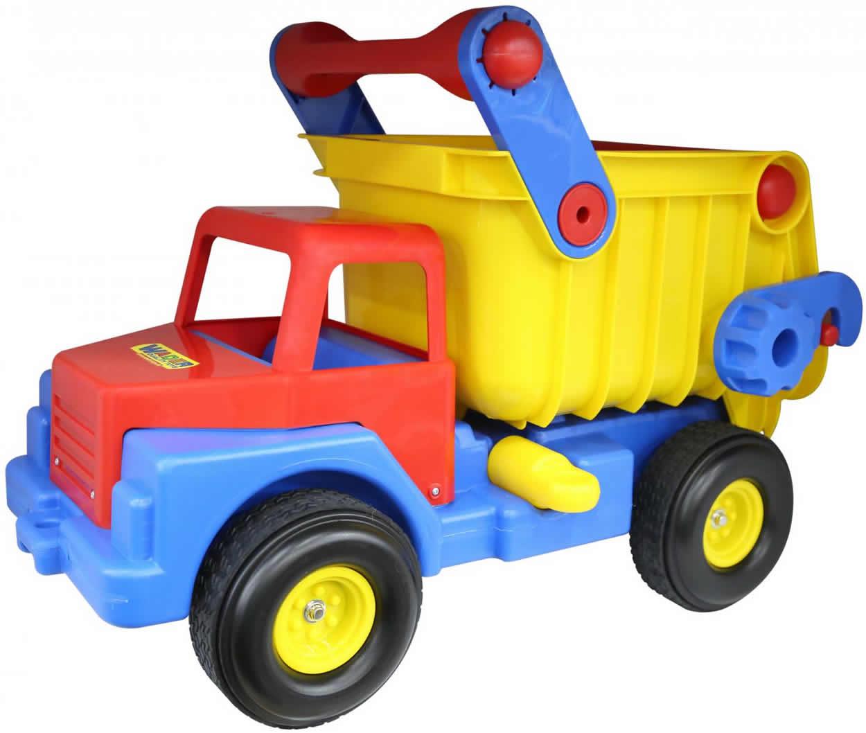 wader truck no 1 lastwagen lkw kipper mit gummireifen ebay. Black Bedroom Furniture Sets. Home Design Ideas