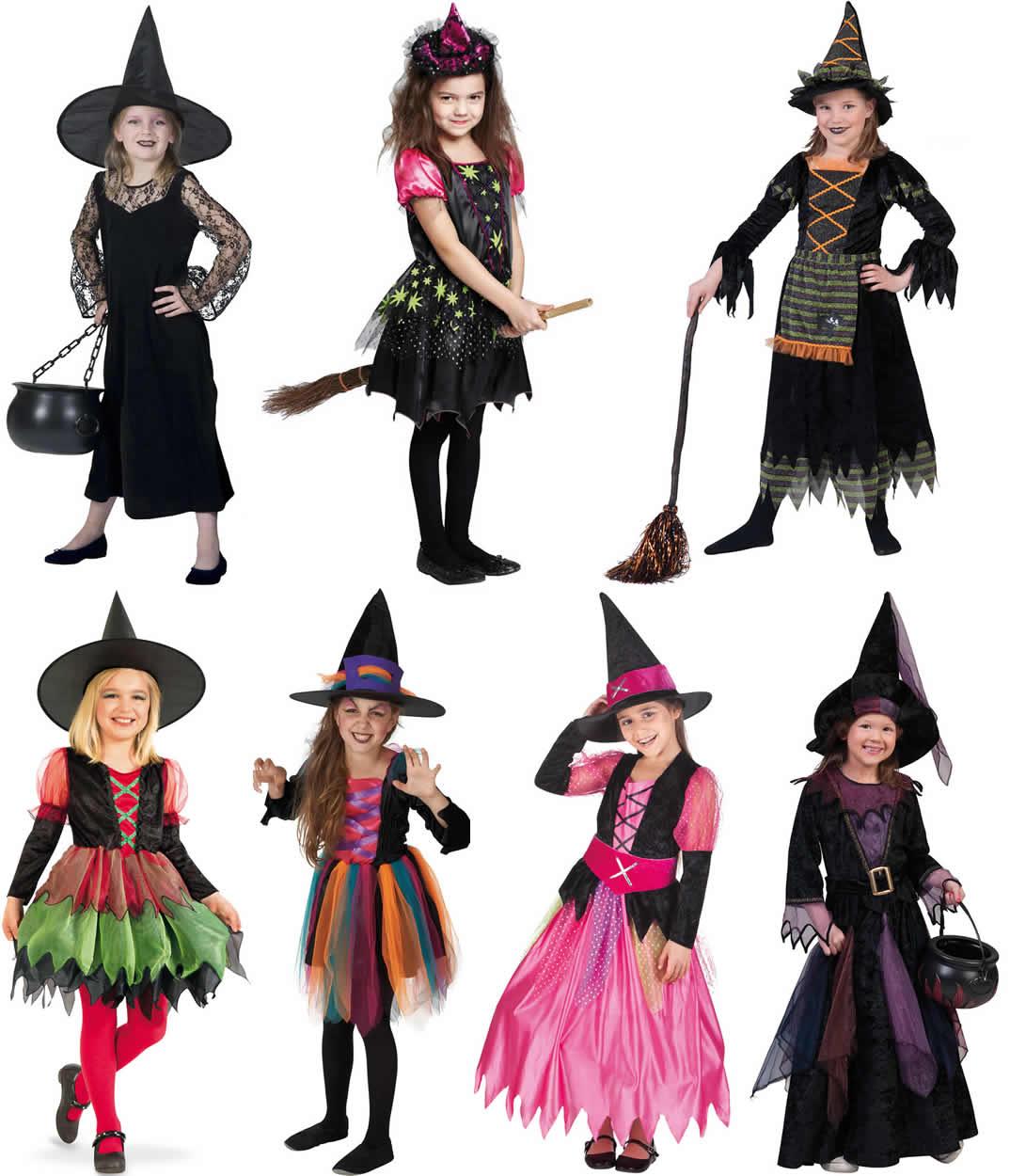 Details Zu Hexe Hexen Halloween Kinder Karneval Fasching Kostüm 98 152