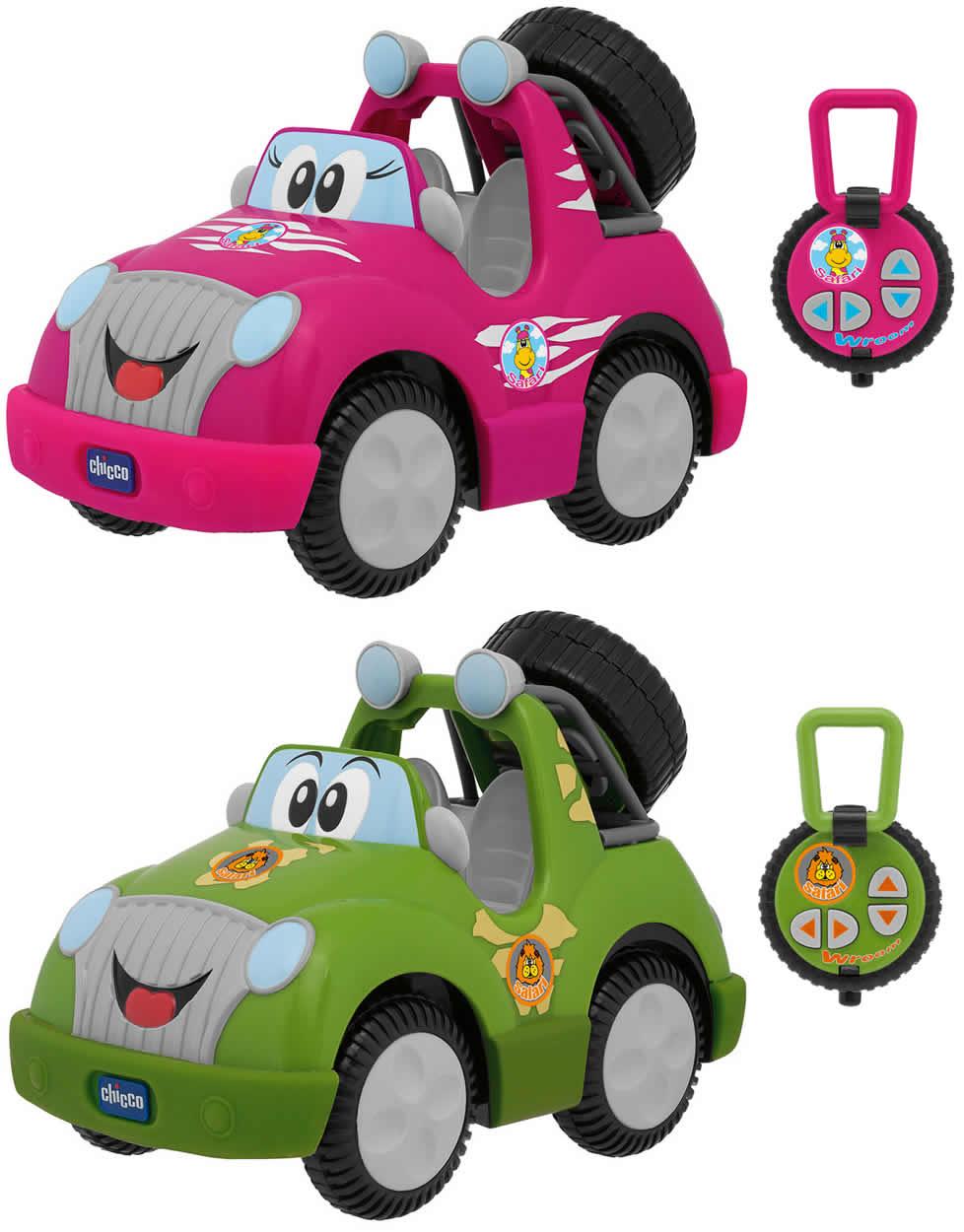 chicco safari park rc gr n o pink ferngesteuertes auto. Black Bedroom Furniture Sets. Home Design Ideas