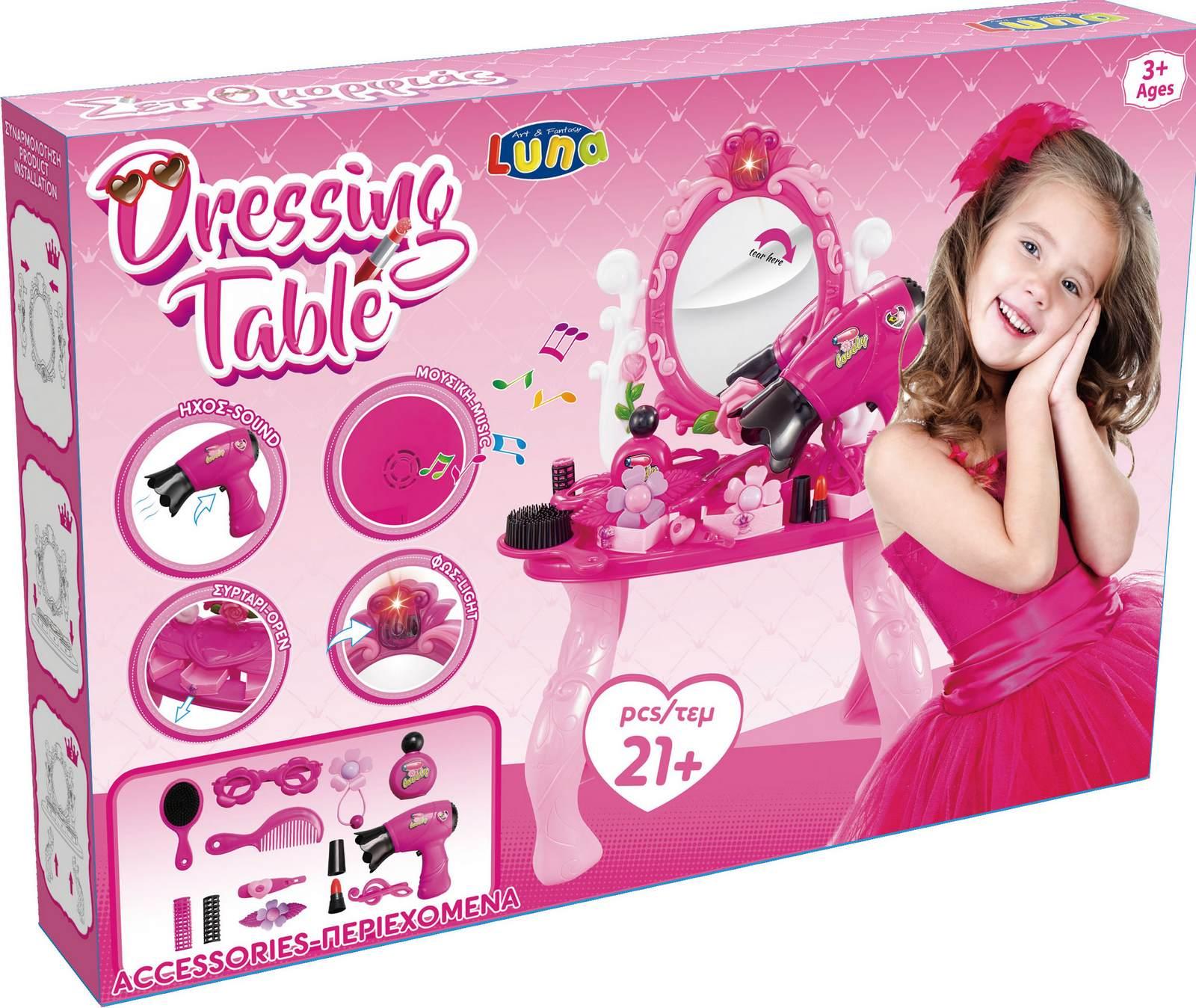 Kinder Spielzeug Frisier /& Schminktisch mit Licht /& Sound /& Zubehör Neu /& Ovp!!