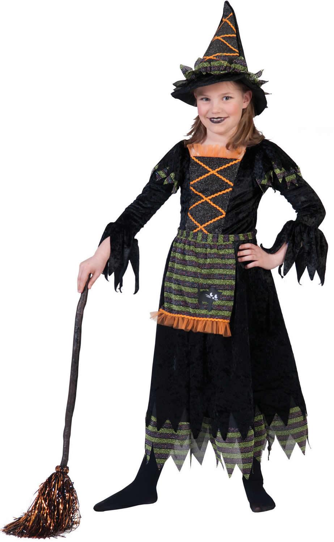hexe hexen halloween kinder karneval fasching kost m 98 152 ebay. Black Bedroom Furniture Sets. Home Design Ideas