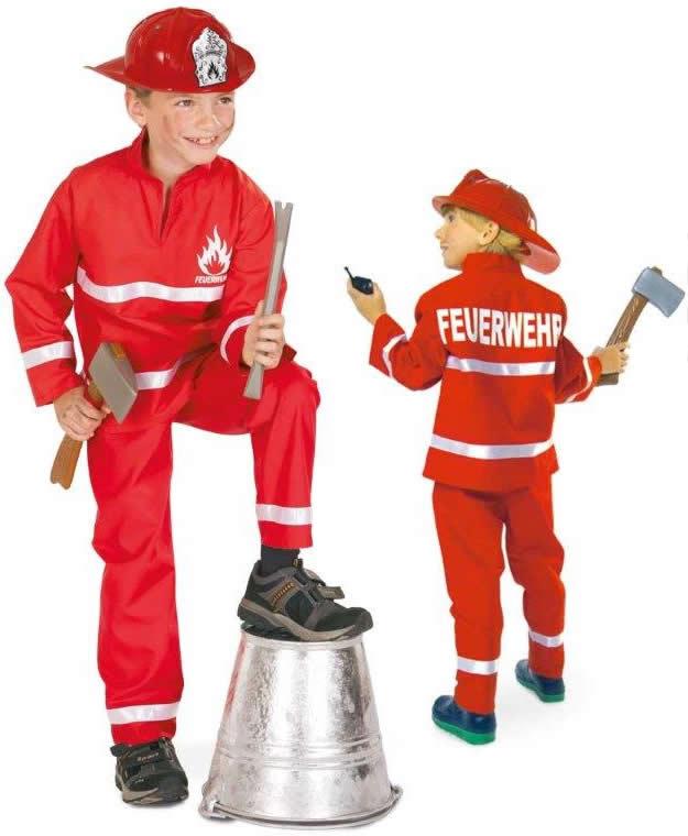 Laufschuhe bezahlbarer Preis retro Details zu Feuerwehrjunge Feuerwehr Uniform Karneval Fasching Kinder Kostüm  98-128