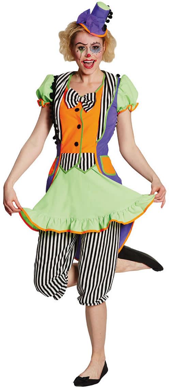 Clownkleid Clown Neon Karneval Fasching Kostum 36 46 Ebay