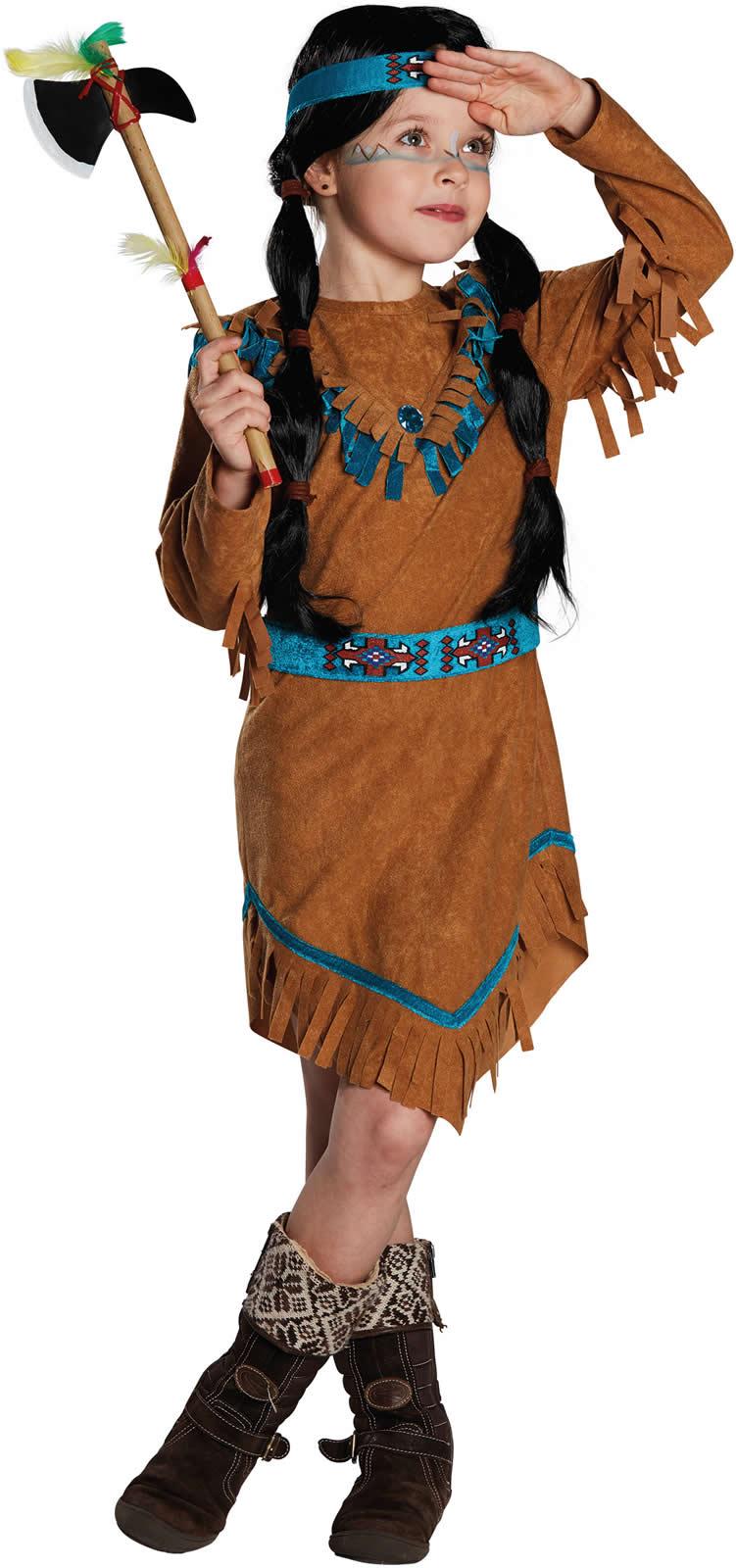indianerm dchen indianerin indianer kinder karneval kost m. Black Bedroom Furniture Sets. Home Design Ideas