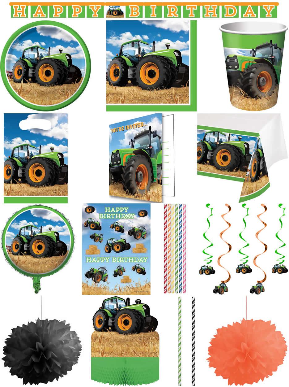Grün Bauernhof Traktor Form 66cm Folien Ballon