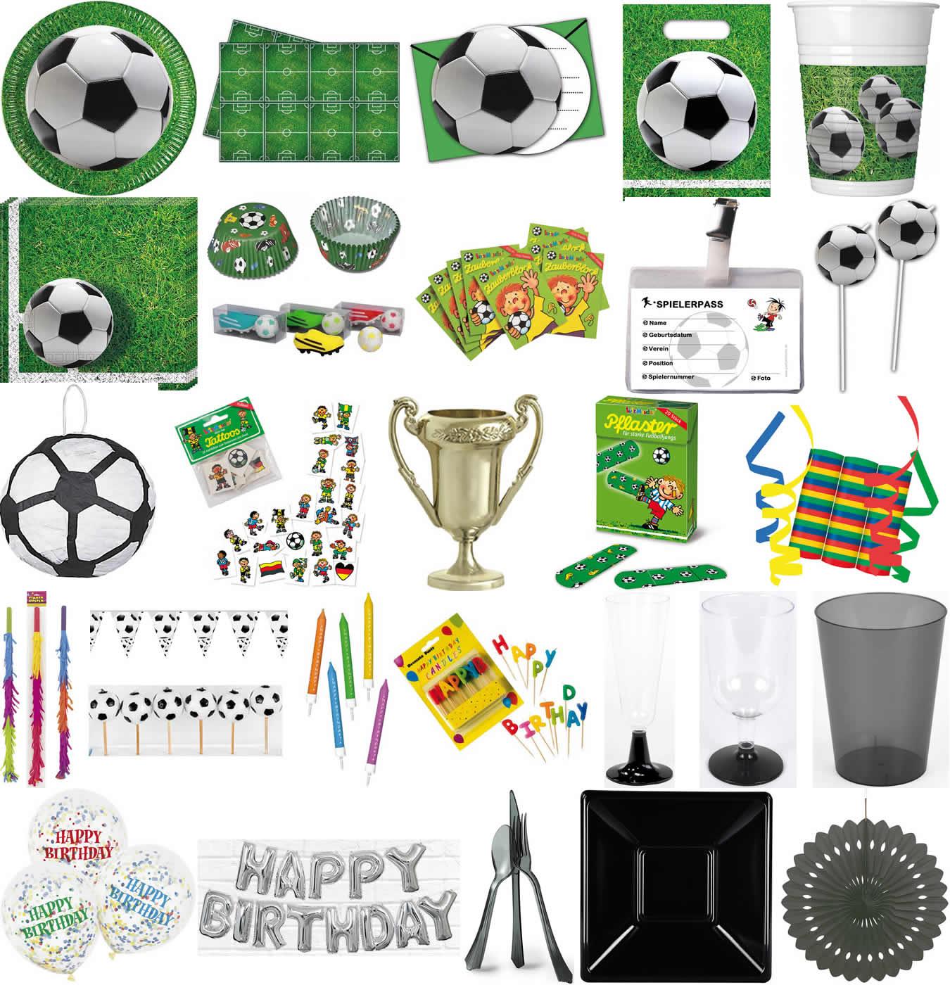 Partykette 2m Happy Birthday Fußball Deko Geburtstag Kindergeburtstag Girlande