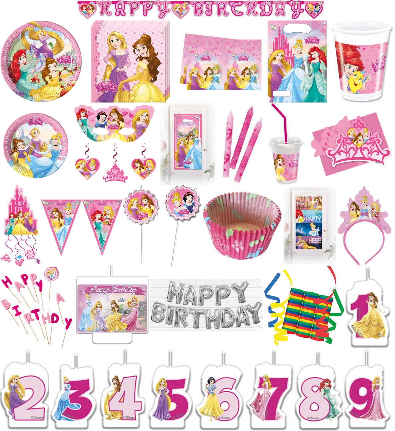Kinder Geburtstag Party Deko Feier Fete Motto Disney Princess
