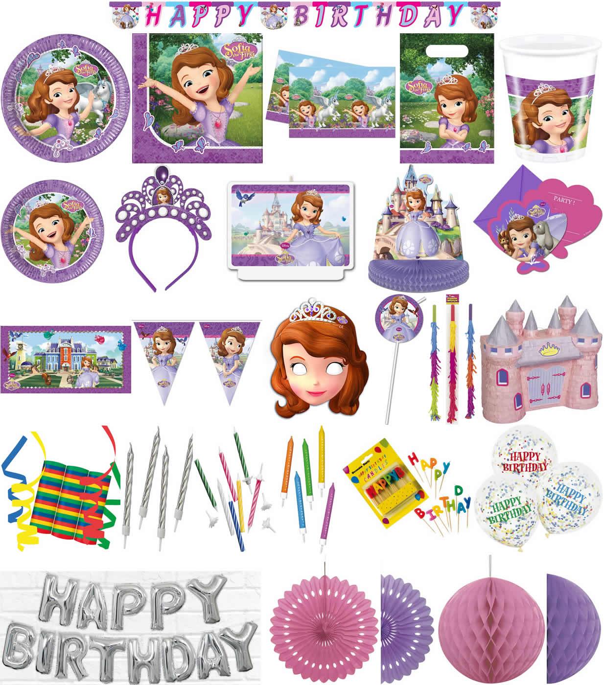 Kinder-Geburtstag Party Deko Feier Fete Motto Sofia the First Mystic Isles