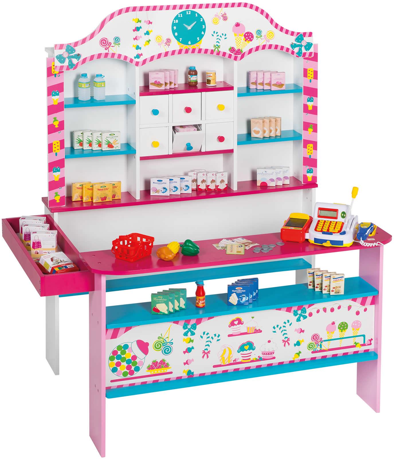 roba Kaufladen Candy Shop bunt mit Zubehör