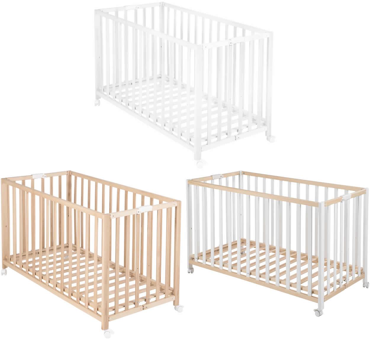 roba klappbett fold up kinderbett babybett bett klappbar 120x60 cm holz ebay. Black Bedroom Furniture Sets. Home Design Ideas