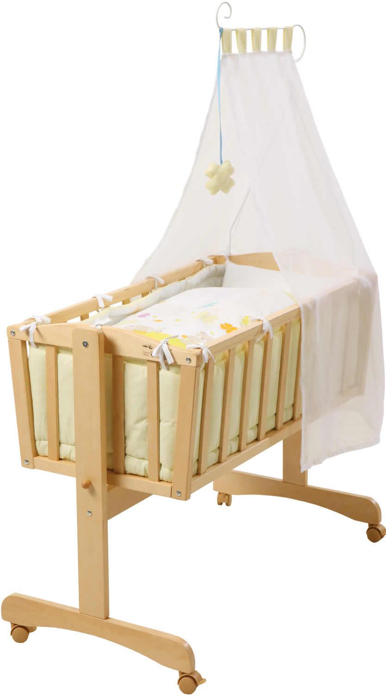 roba komplettwiege babywiege stubenwiege holz ebay. Black Bedroom Furniture Sets. Home Design Ideas