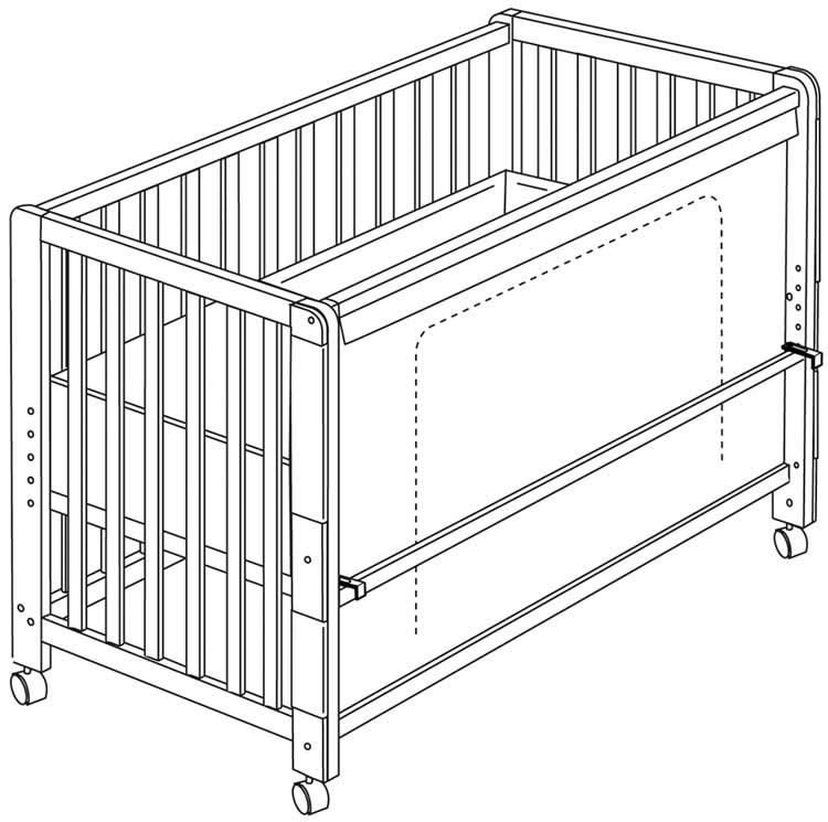 roba room bed babybett kinderbett beistellbett juniorbett fox und bunny ebay. Black Bedroom Furniture Sets. Home Design Ideas