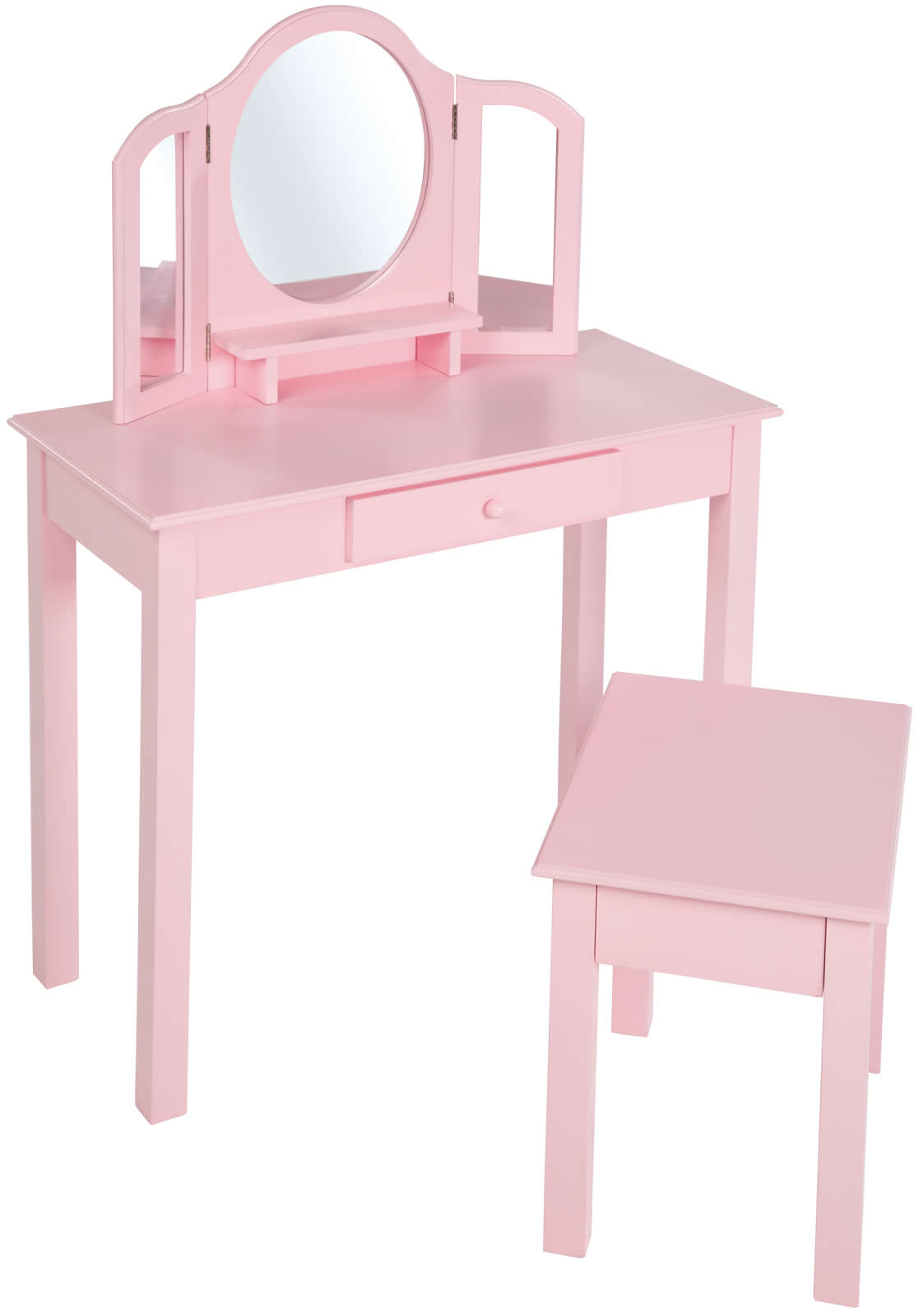 roba kinder schminktisch frisiertisch frisierkommode m spiegel hocker holz rosa ebay. Black Bedroom Furniture Sets. Home Design Ideas
