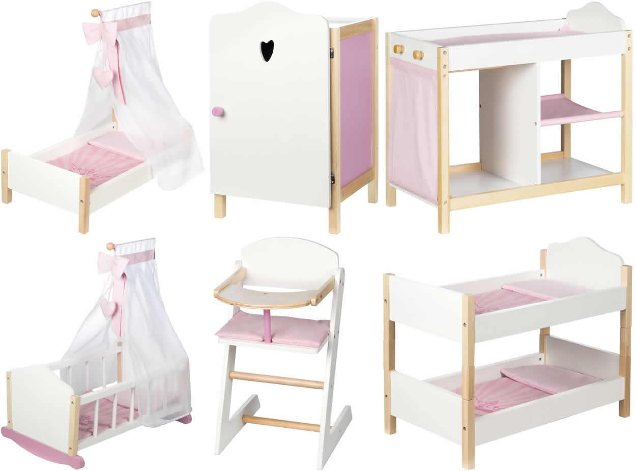 roba puppen m bel scarlett schrank bett wiege kommode hochstuhl holz ebay. Black Bedroom Furniture Sets. Home Design Ideas